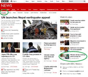 petrol station story on World page