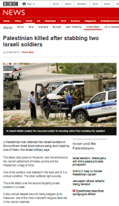 BBC News report on terror stabbing omits Hamas statement of support