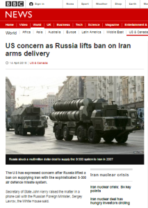 Superficial BBC report on Russian missile deal with Iran