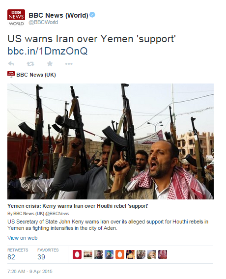 Limited BBC journalistic curiosity on Iranian involvement in