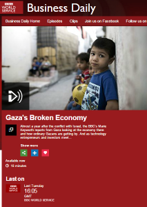 A postscript to BBC Business' recent reports from the Gaza Strip