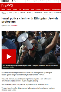 BBC reporting of Tel Aviv demonstration neglects important background