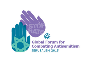 Global Forum for Combating Antisemitism 2015
