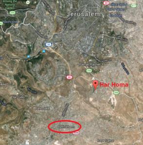 map Har Homa