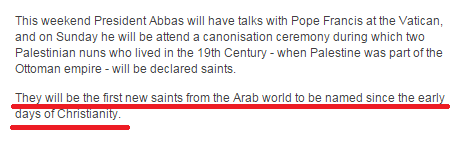 """Still no BBC correction on inaccurate """"first new saints"""" claim"""