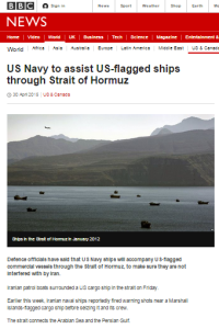 Context lacking in BBC report on developments in Strait of Hormuz
