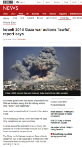 BBC art Gaza report