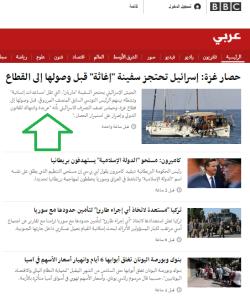 flotilla BBC Arabic