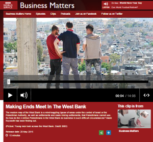 Multiple breaches of BBC editorial guidelines in BBC WS's 'Business Matters' report from Bethlehem