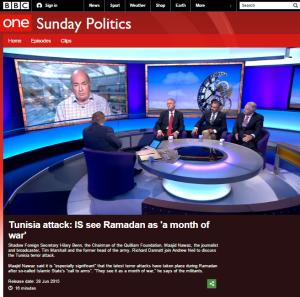 Sunday Politics terror Ramadan