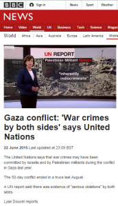 The BBC and the UN HRC report on last summer's conflict – part two