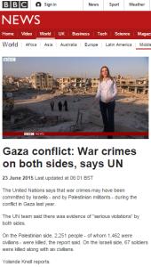 UN report Knell filmed