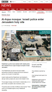 BBC News twists Tisha B'Av Temple Mount incident with 'last-first' reporting