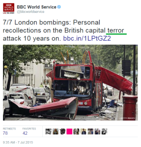 BBC India provides another example of BBC double standards on terrorism