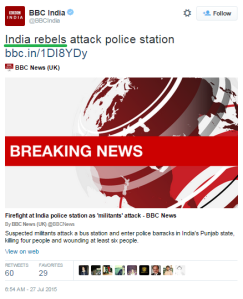 BBC India tweet Punjab