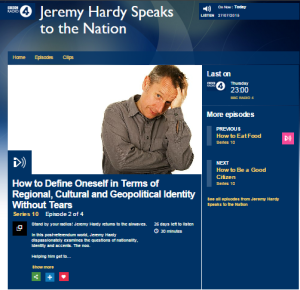 BBC R4 recycles Jeremy Hardy's stereotyping of Israelis