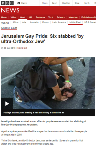 BBC report on Jerusalem gay pride attack second guesses an unsolved crime