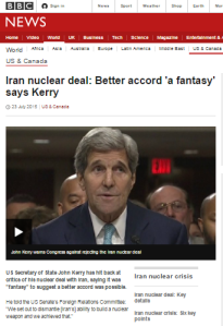 Patchy coverage of Iran 'side deals' in BBC News reporting