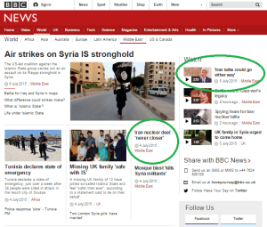 BBC amplification of unchallenged Iranian messaging