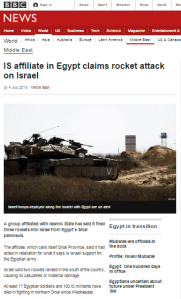 BBC censors 'Jewish' from IS affiliate's claim of missile attacks