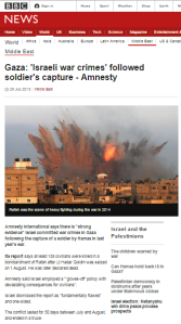 BBC amplification of Amnesty's lawfare agenda again compromises impartiality