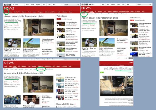 The Duma terror attack and BBC consistency