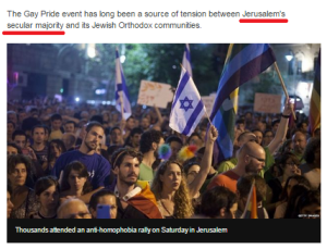 "BBC News website corrects Jerusalem ""secular majority"" claim"
