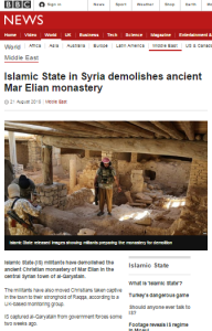 More than a third of BBC report on ISIS destruction of Christian site is about Israel
