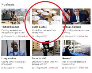 BBC News Paris correspondent goes adrift on Paris beach story