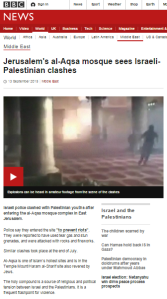 BBC article on Temple Mount riot notes ban on groups it previously failed to report exist