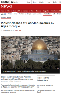 BBC coverage of Succot Temple Mount riots – part one