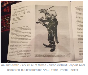BBC in hot water over antisemitic caricature in Proms programme