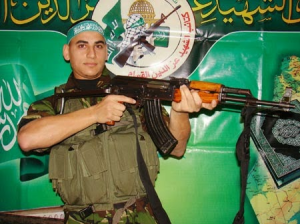 Palestinian 'footballer' Ayman Alkurd killed in 2009 (photo: Elder of Ziyon)