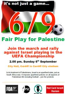 BBC Wales vs Israel demo poster