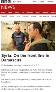 Bowen filmed 15 7 Damascus