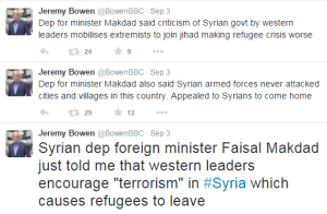 Bowen tweets Mekdad presser