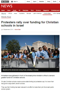 BBC News misrepresents a budgeting story to imply Israeli state discrimination