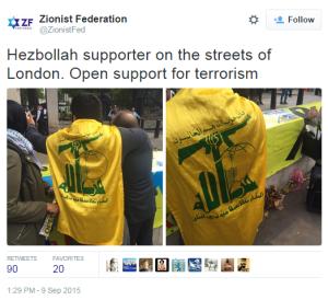 demo London Hizb flags 2