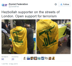 demo London Hizb flags 2