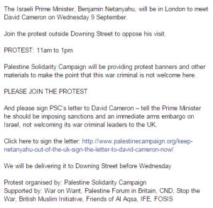 demo London organisers