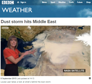 Dust storm BBC Weather