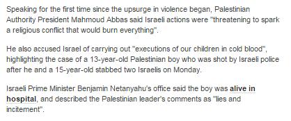 Abbas libel in art 14 10 later