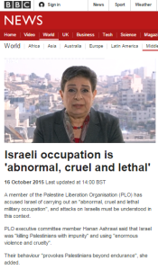 Ashrawi on website