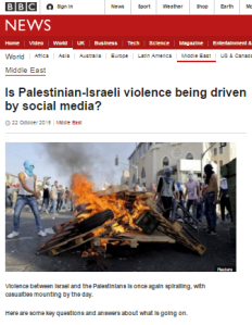 Reviewing BBC reporting on social media incitement in Europe and Israel