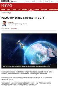 BBC Technology report on Facebook satellite plans omits Israeli aspect