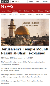 Yolande Knell's BBC backgrounder on Temple Mount fails to cut the mustard