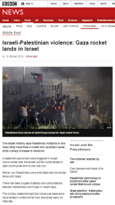 Wave of terror brings rare BBC reporting on missile attacks from Gaza