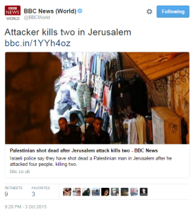 BBC News flunks headline of report on Jerusalem terror attack