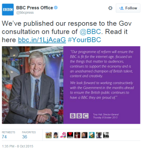 Press Office tweet consultation