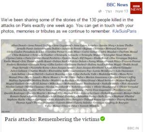 BBC News FB Paris victims